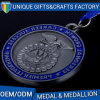 Antique Nickel Medal Military Medal with Ribbon