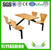 Wooden 4-Seat Fast Food Restaurant Desk and Chair (DT-08)