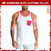 Wholesale Cheap OEM Service Custom Made 100 Cotton Singlets (ELTMBJ-259)