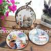 Retro Style Ceramic Coaster ceramic Gfit with Rope for Souvenir