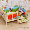 Dog Cartoon House Wood Pet Bed with Cotton Bed Matts