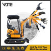 Ce Certification Multifunction New 0.8-30 Ton Hydraulic Crawler Small Digger Machine New Mini Excavator with Cheap Price