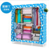 Non-Woven DIY Wardrobe Closet Large and Medium-Sized Cabinets Simple Folding Reinforcement Receive Stowed Clothes (FW-23E)