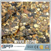 Black White Red Yellow Vein Mixed Color Pebble River Stone Decoration