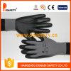 13 Gauge Functional Nylon Shell Black Nitrile Coating Gloves
