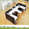 U Shaped Desk Workstation with Credenza for Small Spaces