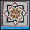 Mixed Marble & Travertine Stone Mosaic Medallion for Home Decoration