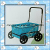 Plastic Tray Steel Frame Shopping Cart
