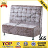 Restaurant Metal Leg Fabric Dining Sofa