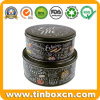 Cookie Tinplate Box, Food Tin Biscuit Can, Round Cake Tin