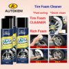 Tire Foam Cleansing Aerosol, Tire Wet Foam Aerosol, Tire Gloss Aerosol Foam
