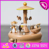 Wonderful Children Cartoon Toys Wooden Music Boxes for Sale W07b051