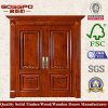 Solid Teak Wood Door Front Entry Double Door for Villa (XS1-026)