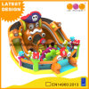 Inflatable Pirate Theme Fun City Colorful with Slide (AQ01786)