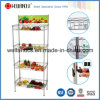 Supermaket Store Metal Fruit Vegetable Display Rack with Basket, NSF Approval