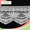 African White Cotton Mesh Embroidered 3.5cm Lace
