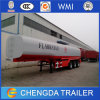 3 Axles 42000L Alluminum Fuel Tank Trailer Export to Kenya