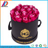 Waterproof Black Cylindrical Cardboard Round Flower Gift Box