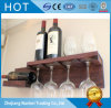 Painted Color Wall-Hanging Solid Wood Wine Rack