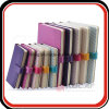 Embossed Thermo PU Luxury Notebooks Journal Portfolio with Strap