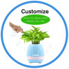 Singing Music Flower Pot Plastic LED Flowerpot with Bluetooth Speaker