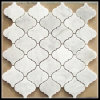 Italy White Carrara Marble Arabesque/Lantern Veneer Mosaic Tile for Wall Decoration