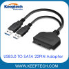 USB3.0 to SATA 7+15pin 22pin Adapter Cable for 2.5 Inch HDD SSD