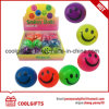 TPR Printing Smiling Face Rubber Bounce Ball LED Flashing Skip Ball