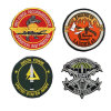 Twill Embroidery Patches with Custom Logo 3D Embroidery Patch Wholesales Embossed Name Logo Uniform Arm Patches