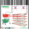 Supermarket Equipments Shopping Trolley and Gondola Shelving
