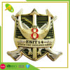 Gold Plated Soft Cloisonne Customized Sandblasting Metal Police Coin as Decoration (050)