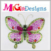 Amazing Metal Pink Butterfly Wall Decor for Spring