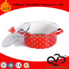 Decal Cast Iron and Enamel Casserole with Enamel Lid