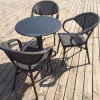 Grace Leisure Garden Table and Rattan Chair Set for Outdoor (SP-CT838)