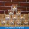 Clear Glass Square Candle Holders