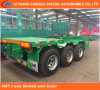 3 Axle Low Bed Flat Semi Trailer