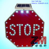 Us Style Solar Powered Flahsing Stop Road Sign