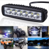 18W 6 Inch Waterproof Super Bright CREE Chip LED Straight Work Light