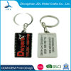 Promotion Gift Debossed Color Fill Logo Rectangle Metal Keychain Custom Souvenir Soft Enamel Metal Keychain (63)