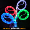 Visible Flowing LED Light USB Charge Data Cable for iPhone