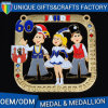 Factory Direct Sale Metal Cartoon Medal with Custom Medal Box