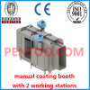Manual Powder Coating Booth with 2 Working Stations