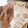 Hot Jewels Metallic Temporary Tattoos, Tattoo Sticker, Body Art Tool