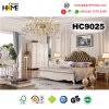 Antique Wood Furniture Genuine Leather Bed for Home (HC9025)