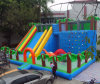 Customized Giant Inflatable Castle Slide with Climbing Wall