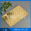 Inox Cr SUS304 Embossed Design Metal Gold Plating Sheet Decorative Cold Rolled Stainless Steel Plate