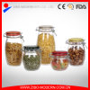 Wholesale Glass Jars Cheap Glass Food Jar Glass Jars with Colored Lids