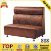 Restaurant Steel Leg Fabric Dining Sofa