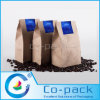 Kraft Paper Bottom Gusset Bag for Ground Coffee Packaging