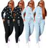 Latest Style Women Sweatsuit Sets Sports Wear Women 2 Piece Active Set Hoodie Tracksuits Sweatshirt and Sweatpants Casual Joggers Outfit